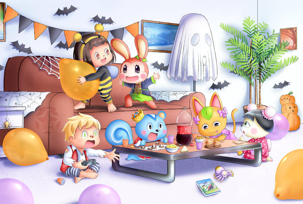 Halloween Party by AlcyoneAX