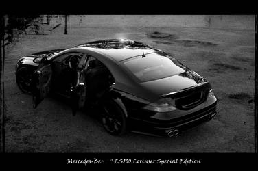 mercedes-benz lorinser back BW by ShadowPhotography