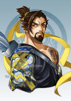 Commissioned work - Hanzo by iamtabbychan