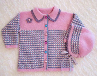 Wool Cardigan and Cap for Toddler by ToveAnita