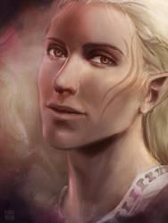 Zevran portrait by BunnyMana