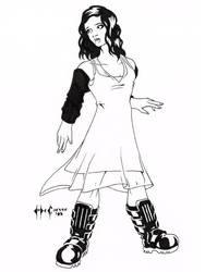 Daily Sketch 020/365: Cerebral Assassin by ChrisMcCarver
