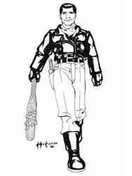 Daily Sketch 021/365: The Savior by ChrisMcCarver
