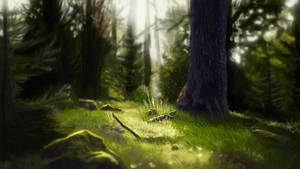 Forest Speed Painting by killcanos