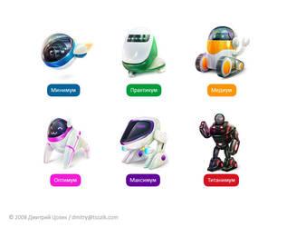 AllGN Robots Icons by lambda
