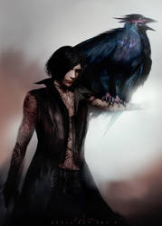 V and Griffon_Devil May Cry 5 by SiriCC