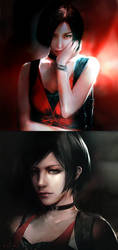 Ada Wong_without the trench coat by SiriCC