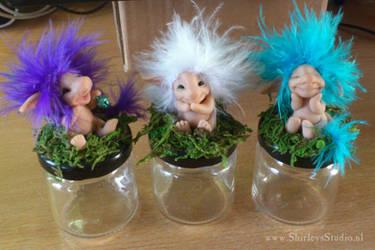 Castlefest projects (trolls on a bottle) by ShirleysStudio