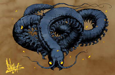Wandering Centipede by nicktheartisticfreak