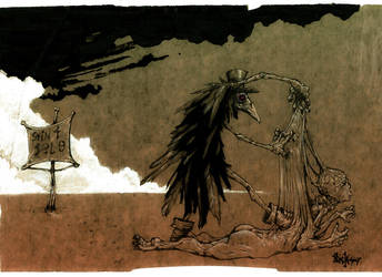 the funeral of man by nicktheartisticfreak
