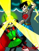 SuperBoy (Conner Kent) Vs. SaiyaMan by KCruzer