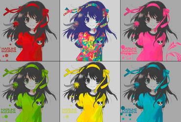 Suzumiya Haruhi no yuutsu Full-Colors Wallpape by Daniel-Neku