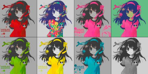 Haruhi-suzumiya no yuutsu-Full-Colors Wallpape by Daniel-Neku