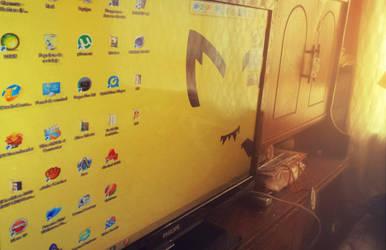Pichu Desktop by Daniel-Neku