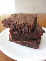 Raspberry Brownies by maytel