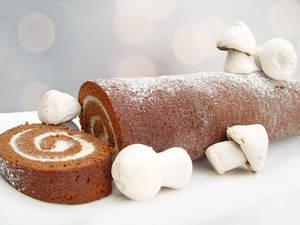 Chocolate and Mascarpone Yule Log by maytel
