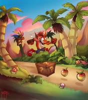 Crash Bandicoot by BelToons