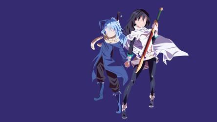 Rimuru Tempest and Shizue Izawa by ShiroTaizai