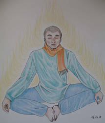 meditation man by Jaizeci