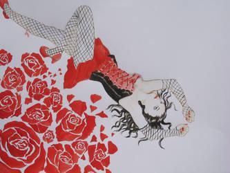 red lady by Jaizeci