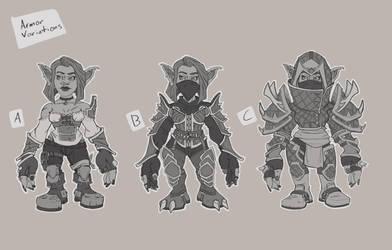 Goblin Rogue Design Armor Variations by tfZanben