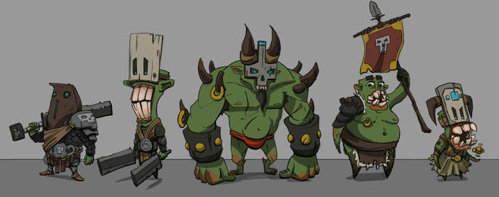 Goblin Character Design Doodles by tfZanben
