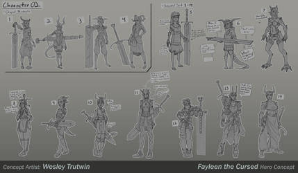 Fayleen the Cursed Sketches and Thumbnails by tfZanben
