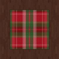 Russet Flooring And Tartan Rug (red) by Rosemoji