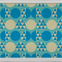 Circles And Triangles (blue) by Rosemoji