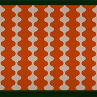 Mid-century Wave (orange) by Rosemoji