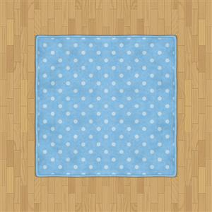Flooring  Polka Dot Rug (Pale Blue) by Rosemoji