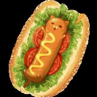 Kawaii Hot Dog by Rosemoji