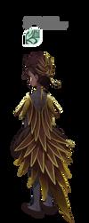 STTS| Golden bird dress by ksmaggie
