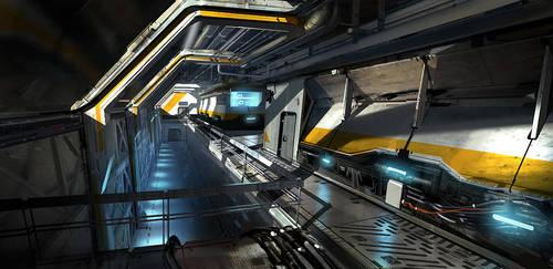 Scifi Corridor by Phade01