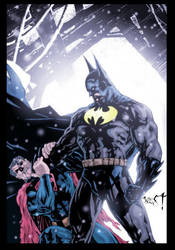 batman vs superman colored by westwolf270