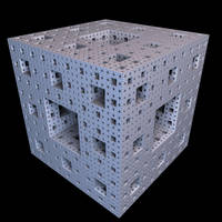 Menger sponge six recursions by tobain