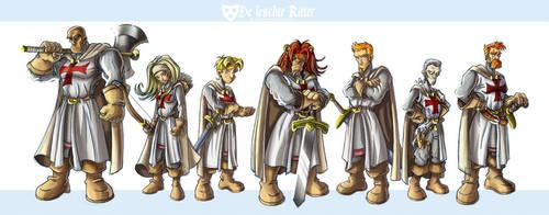 DLR II -Templars-line-up by scoundreldaze