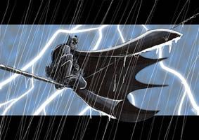 Bat on a Wire by scoundreldaze