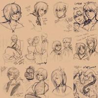 [EVG] Warden's sketches by MaekoHikari
