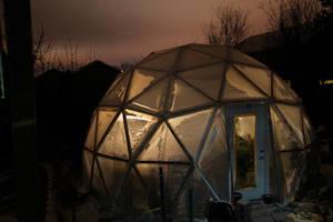Geodesic Dome Greenhouse by gentlegenius