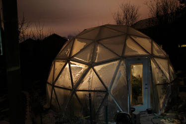 Geodesic Dome Greenhouse by gentlegenius