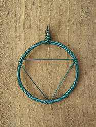 Wire-Rapped Water Symbol Pendant by BrinkisBrinkis