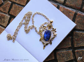 golden pendant with opal. by Ajsena