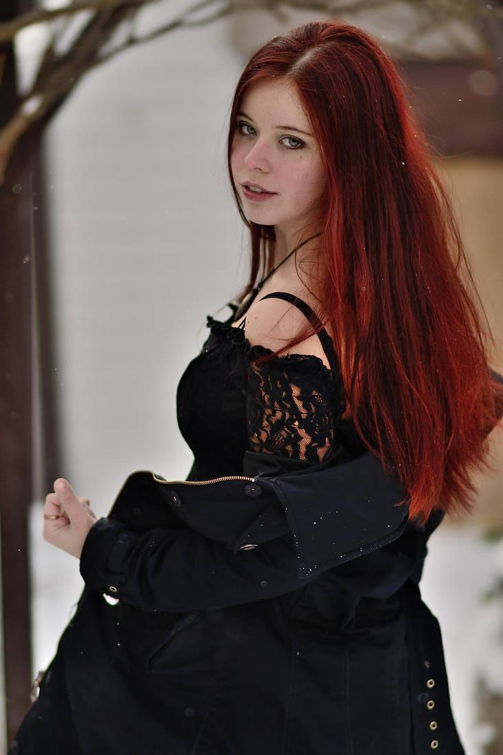 Redhead girl by Ajsena