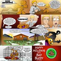 Bad Buddy Comics - Christmas by vannickArtz