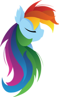 Simplicity - Rainbow Dash by SiMonk0