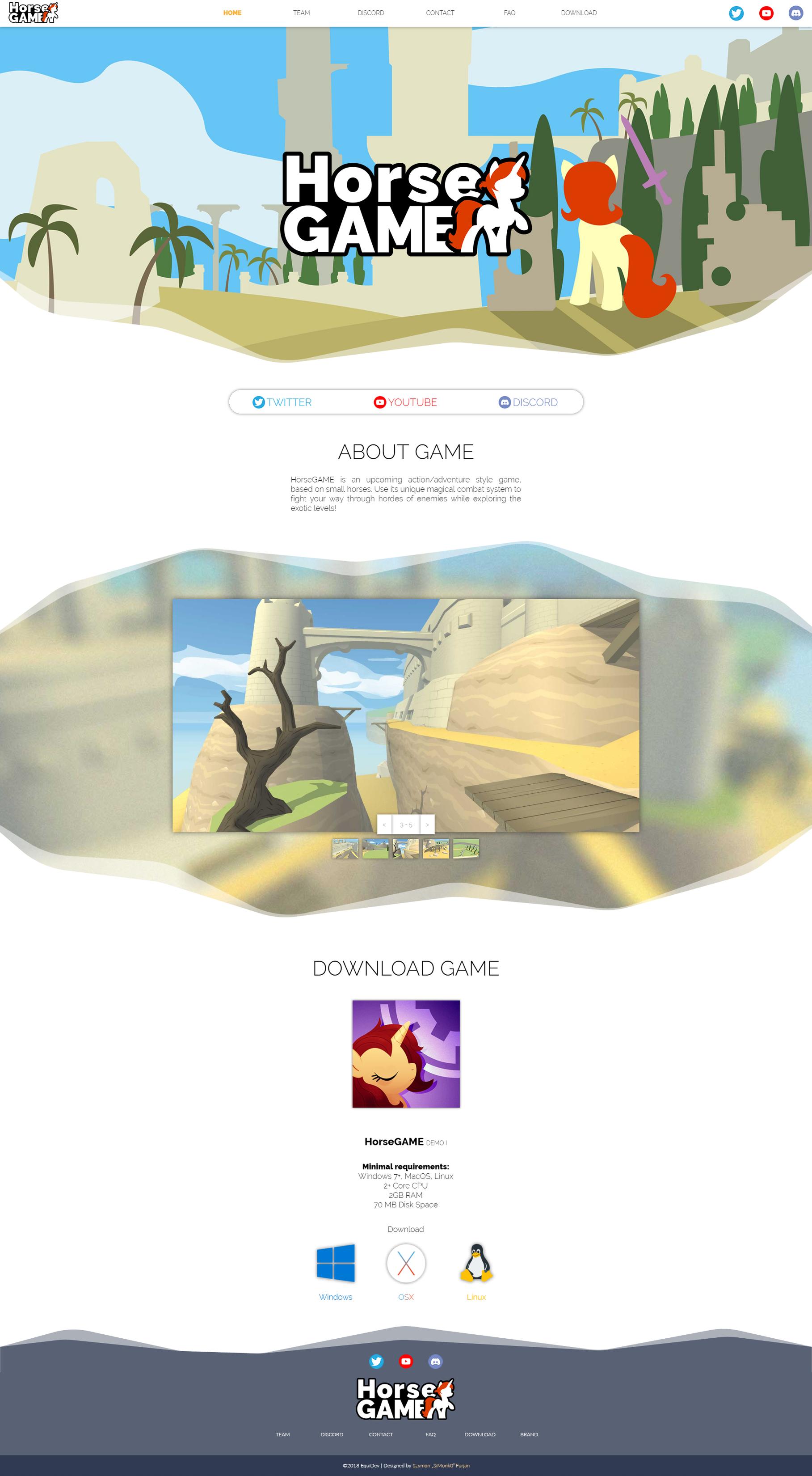 HorseGAME Website by SiMonk0