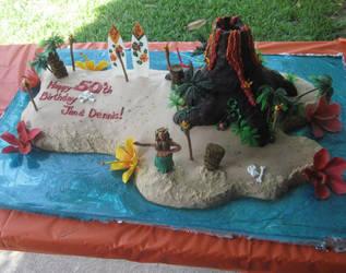 Hawaiian  Island Cake by CHEFABL