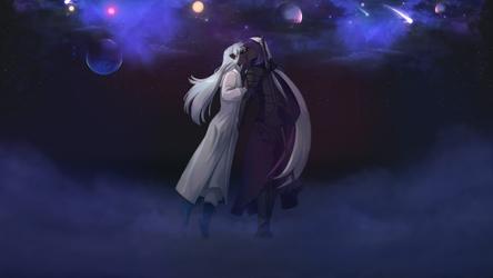 Faen kissing Ariel - Wallpaper by Laerei