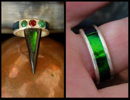 Forest Fire ring by LaughingScarab